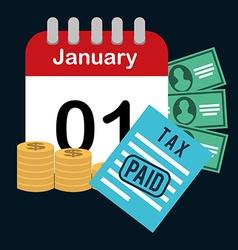 Pay taxes vector