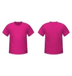 Realistic pink t-shirt vector