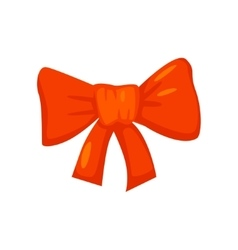 red bow isolated on white Cartoon style vector image vector image