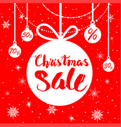 red holiday sale poster vector image