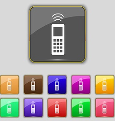 remote control icon sign Set with eleven colored vector image