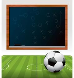 Soccer chalkboard vector