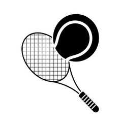 Tennis ball racket sport pictogram vector