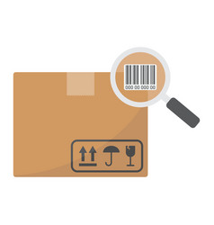 Tracking parcel flat icon logistic and delivery vector