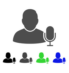 User microphone flat icon vector
