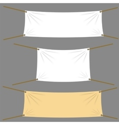 Various textile banners vector