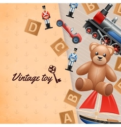 Vintage toys background vector
