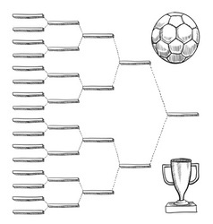 doodle sports bracket wc vector image