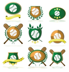 Baseball badges vector