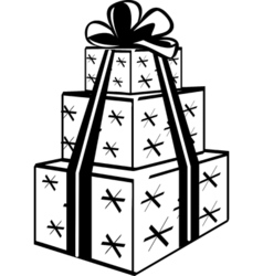 Stacked gift presents vector image