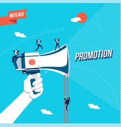 Business promotion online concept vector