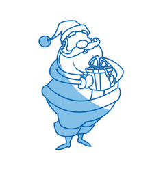 Santa claus beard moustache christmas thin line vector