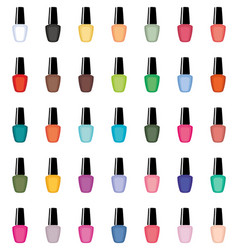 Nail polish on a white background isolated vector