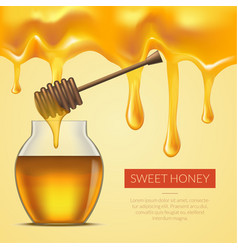 Honey melted background vector