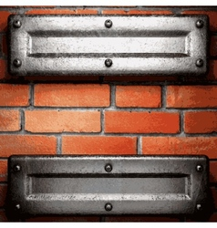Metal and brick background vector