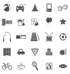 Toy icons on white background vector image