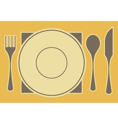 Tableware vector
