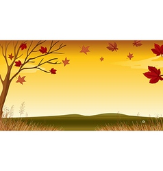 A view of an autumn vector image