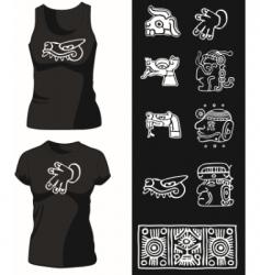 shirt14 vector image