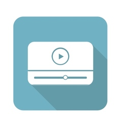 Square mediaplayer icon vector
