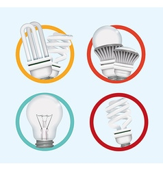 Light bulb design vector