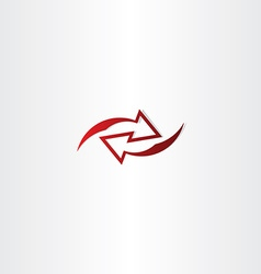 Left right red arrow logo icon vector