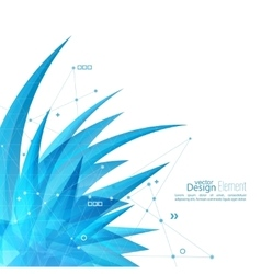 Abstract background with crystal virus vector