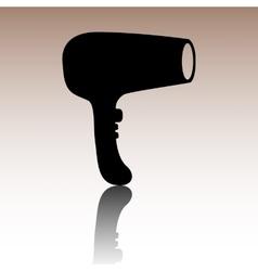 Hair dryer hairdresser symbol - vector