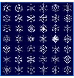 Set of decorative winter snowflakes vector