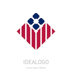 Modern stylish logo design element with stripes vector