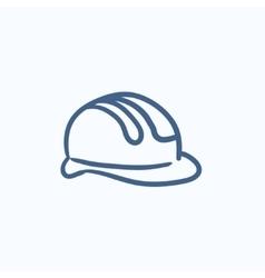 Hard hat sketch icon vector image