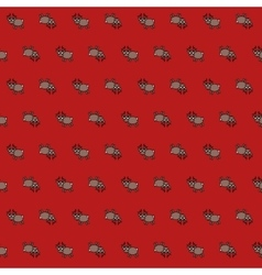 Christmas pattern with deers on red background vector image