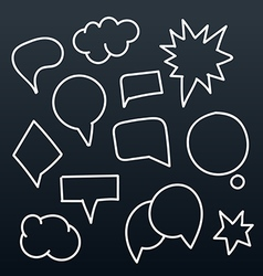 Abstract hand-drawn talking bubbles set vector image vector image
