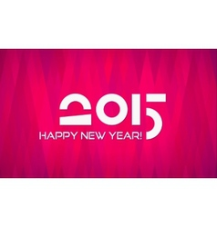 Abstract Minimalistic Flat Happy New Year 2015 vector image vector image