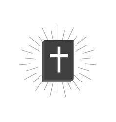 book of the bible black silhouette of a book vector image