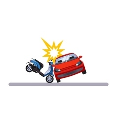 Car and transportation issue with a moped vector