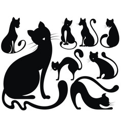 Cats collection vector