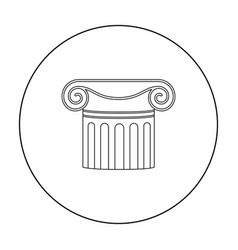 column icon in outline style isolated on white vector image