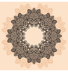 Contour MandalaOrnament round lace with Mandala vector image