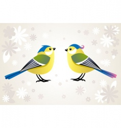 cute stylized birds vector image