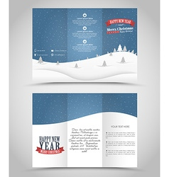 Design Christmas and New Year flyer vector image vector image