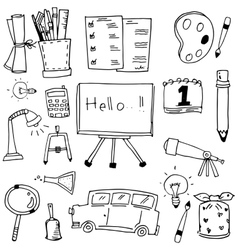 Education icon doodles art vector image