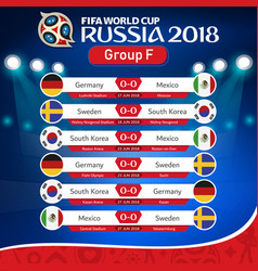 Fifa world cup russia 2018 group f fixture vector