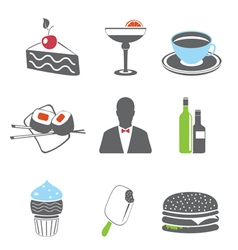 Foof icons set vector