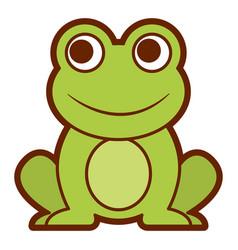 frog cute animal sitting cartoon vector image vector image