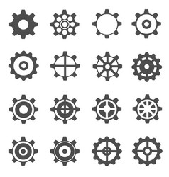gear icons vector image vector image