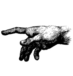 hand 01 vector image