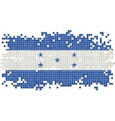 Honduras grunge tile flag vector