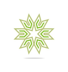 House star arrow compass design pointer icon vector