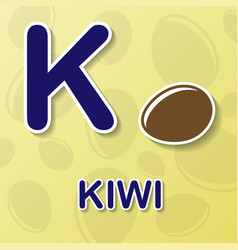 Kiwi alphabet background vector